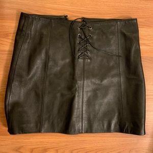 Wilson Leather Maxima Skirt in Black